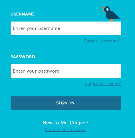Mr Cooper Username and Password
