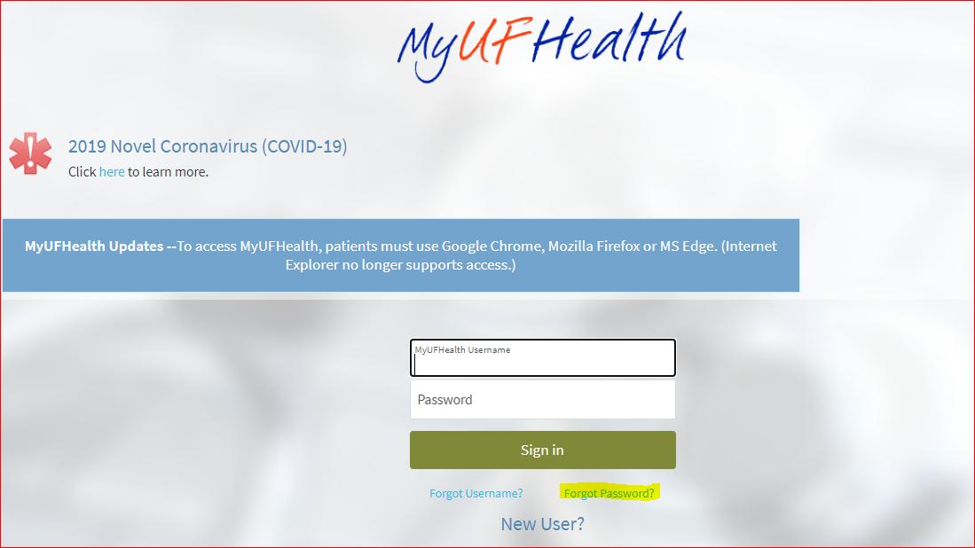 Mychart UF3