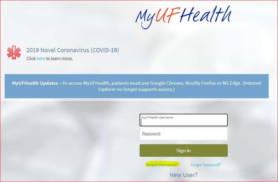 Mychart UF6