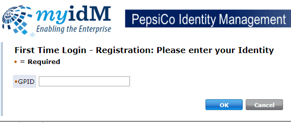 pepsico identity manager for first time users