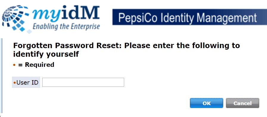 PepsiCo employee account reset password