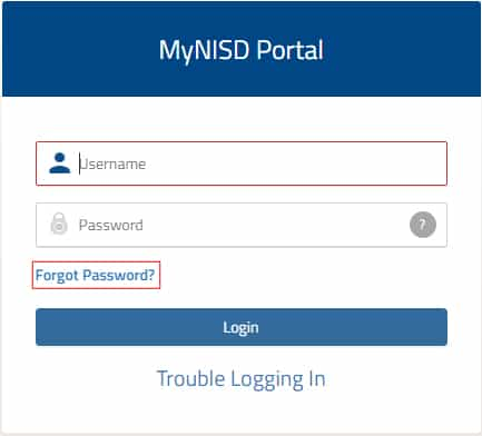 My NSID Forget Password