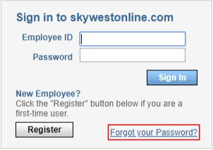 sky west online forget password