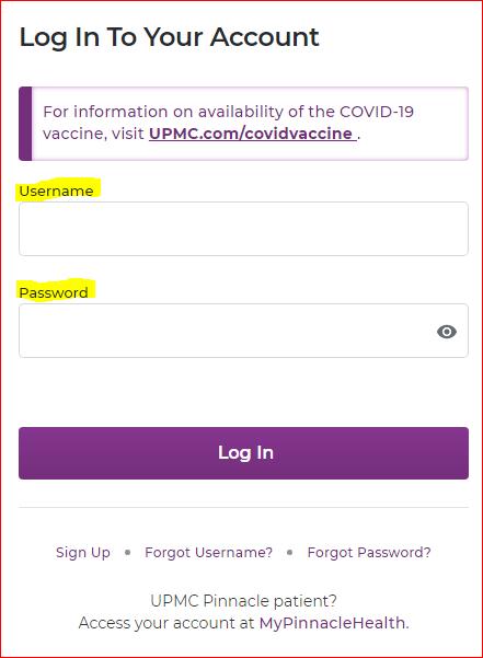UPMC Healthtrak Online Login Portal