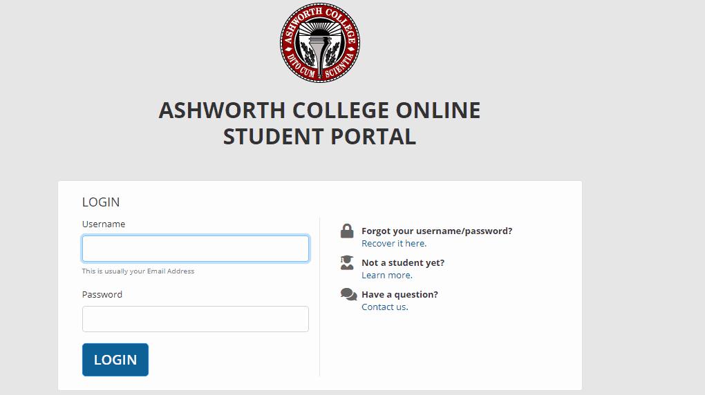 Ashworth College Login