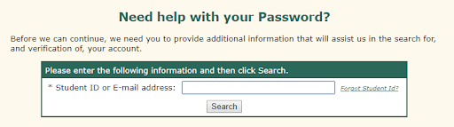 PBSC Forget PAssword