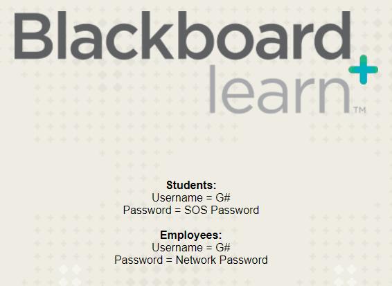 Blackboard Login Instructions