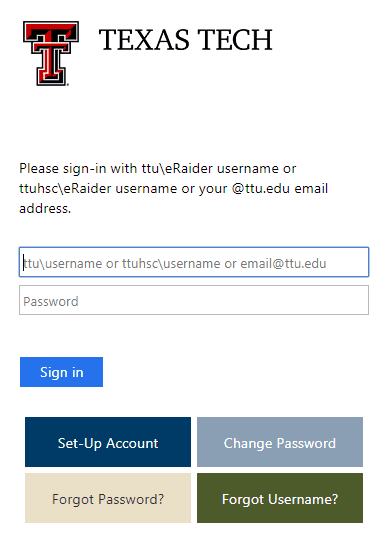 TTU raiderlink login