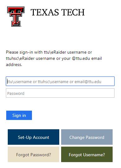 TTU raiderlink login