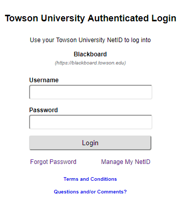 Towson blackboard login