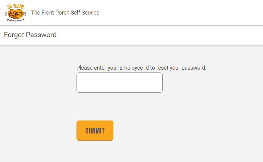 Forgot Employee Password