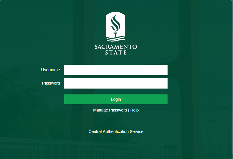 MySacState Login Page
