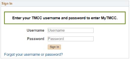 Tmcc login