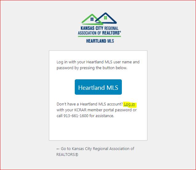 Matrix Heartland MLS Login 1
