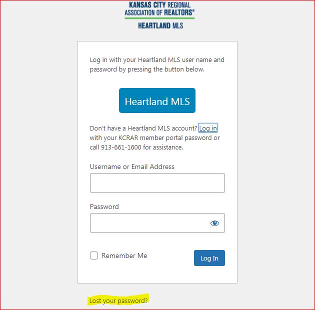 Matrix Heartland MLS Login 3