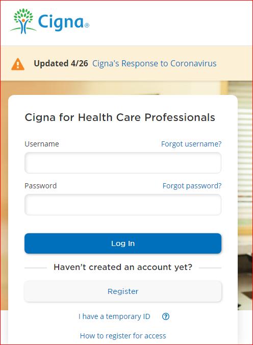 Cignaforhcp account