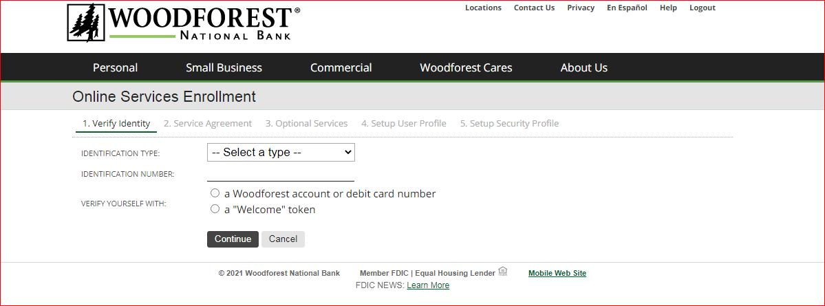 woodforest bank online banking enroll 1
