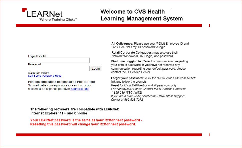 CVS Learnet Online Account